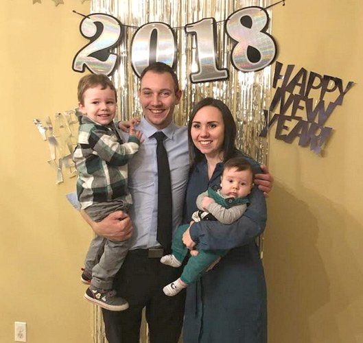 Sergey with his family, New Years 2018