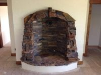 custom stonework inside home