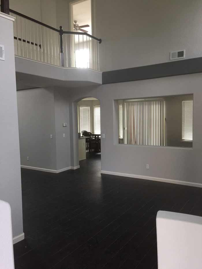 new paint and flooring inside Tracy home
