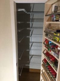 Custom pantry shelving installation