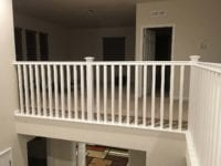 Upstairs stair railing newly installed