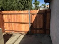 new fence and gate installation in Tracy