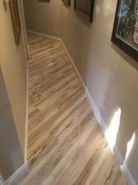 New hardwood flooring during home remodel