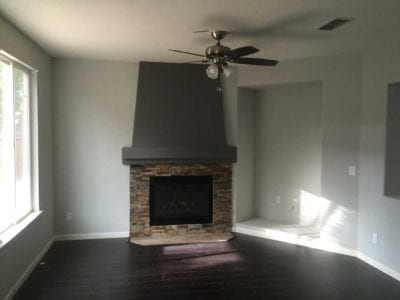 New fireplace and flooring in Tracy