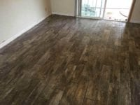 New dark laminate flooring