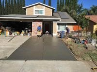 During repaving of driveway in Tracy, CA