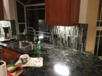 vertically tiled backsplash during kitchen remodel