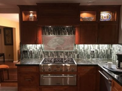 kitchen remodel in Tracy, CA featuring backsplash