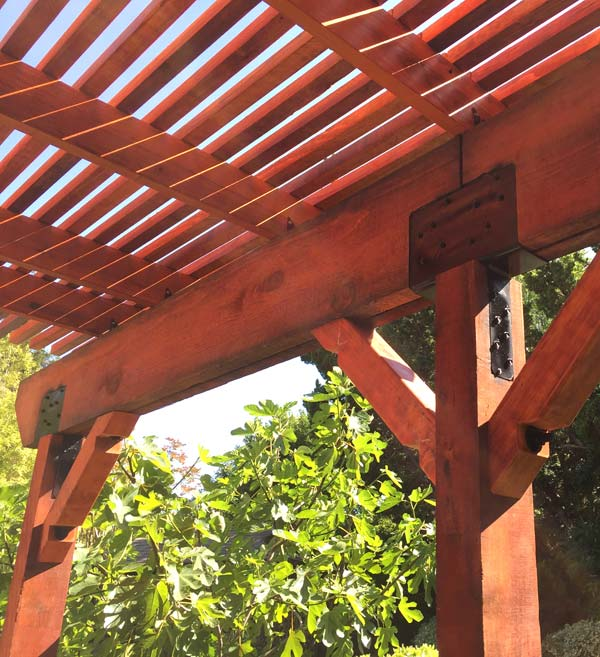 part of our hardscaping in Tracy, CA is pergola installation
