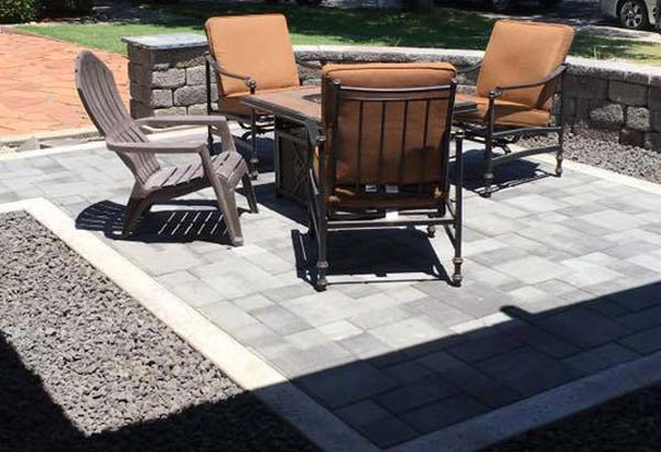 a stone patio installed by our team