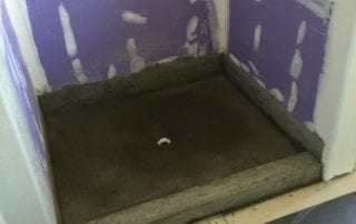 Shower backerboard tray during a remodel