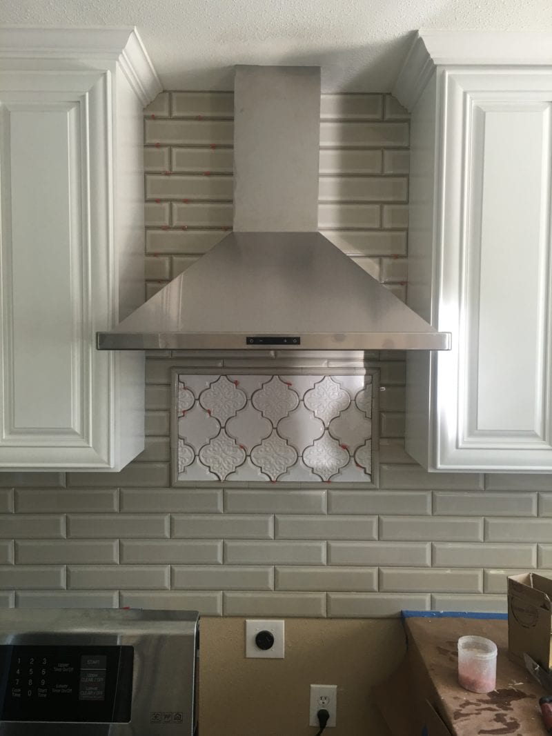 kitchen exhaust hood after new kitchen remodel