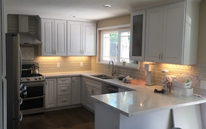 Completed contemporary kitchen renovation