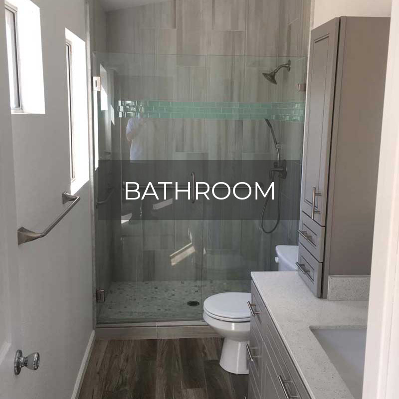 Bathroom remodel by Elevated Development Construction