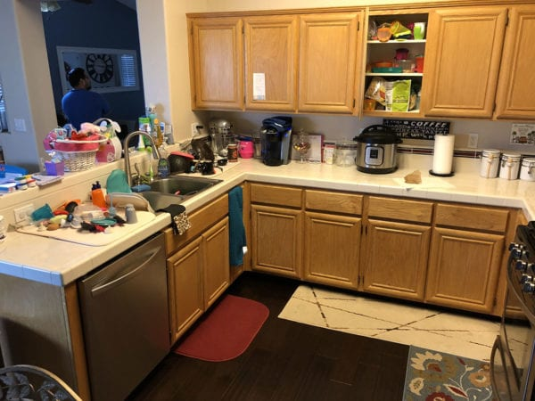Kitchen remodel in Tracy - before photo