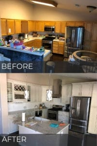 Tracy kitchen remodel before and after photos