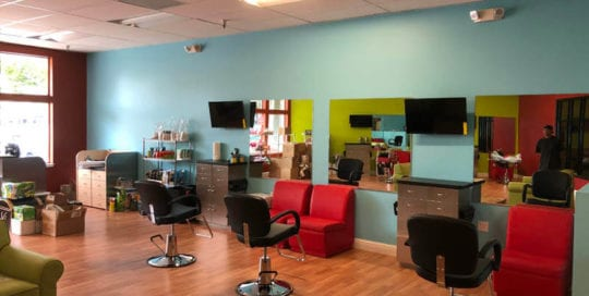 interior of Pigtails and Crewcuts in Danville