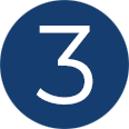 number 3 circle icon