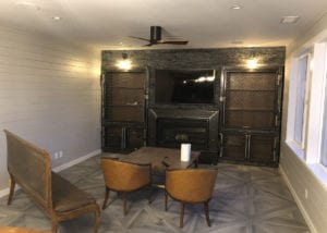 vintage industrial media room in Manteca